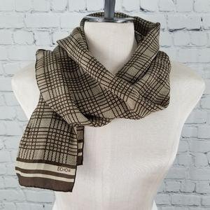 ECHO | plaid 100% silk vintage scarf